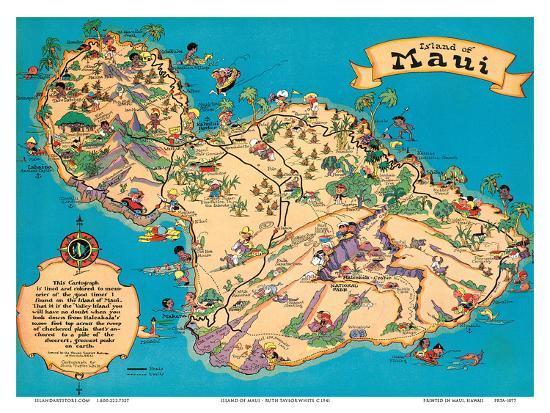 Hawaiian island of maui hawaii tourist bureau art print by ruth hawaiian island of maui hawaii tourist bureauby ruth taylor white thecheapjerseys Choice Image