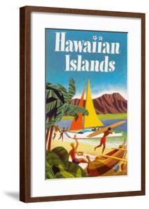 Hawaiian Islands Poster