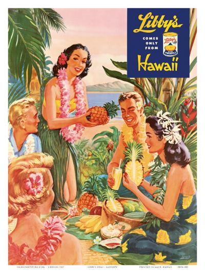 Hawaiian Luau, Libby's Pineapple Hawaii, c.1957-Laffety-Art Print