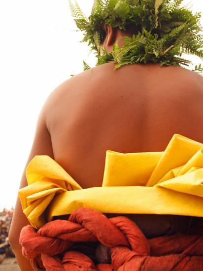 Hawaiian Man Preparing to Make Offerings to Pele Photographic Print by  Steve & Donna O'Meara | Art com