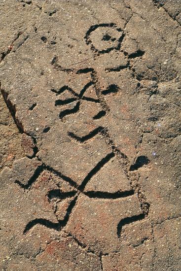 Hawaiian Petroglyph-Brad Lewis-Photographic Print