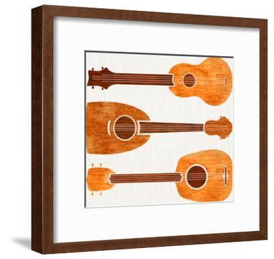 Hawaiian Ukuleles-Modern Tropical-Framed Art Print
