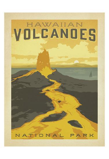 Hawaiian Volcanoes-Anderson Design Group-Art Print