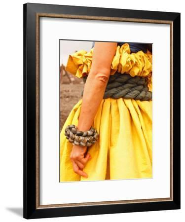 Hawaiian Woman Preparing to Make Offerings to Pele-Steve & Donna O'Meara-Framed Photographic Print
