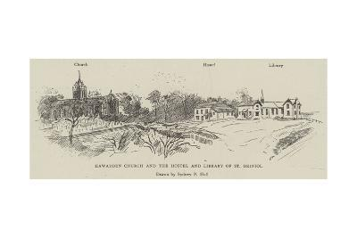 Hawarden Church and the Hostel and Library of St Deiniol-Sydney Prior Hall-Giclee Print