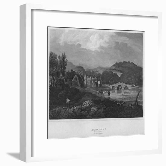 'Hawick. (General View.) Roxburghshire', 1814-John Greig-Framed Premium Giclee Print