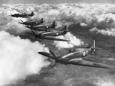 Hawker Hurricanes in Flight--Photographic Print