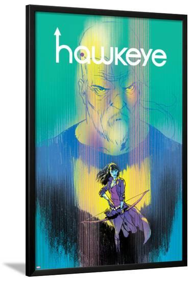Hawkeye #1 Cover Featuring Hawkeye, Bishop, Kate-Ramon Perez-Lamina Framed Poster