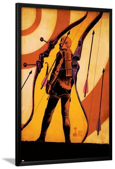 Hawkeye #12 Cover: Hawkeye-Francesco Francavilla-Lamina Framed Poster