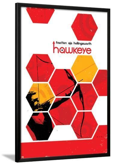 Hawkeye #13 Cover: Hawkeye-David Aja-Lamina Framed Poster