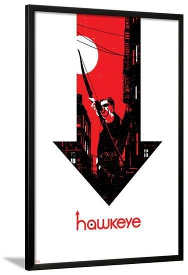 Hawkeye #6 Cover: Hawkeye-David Aja-Lamina Framed Poster