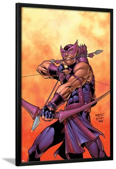 Hawkeye No.5 Cover: Hawkeye-Carlos Pacheco-Lamina Framed Poster