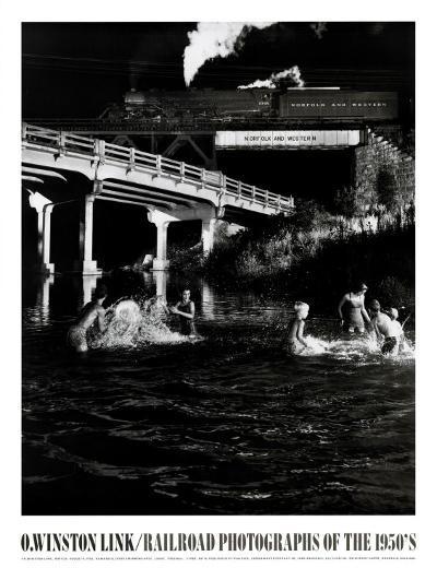 Hawksburg Creek Swimming Hole-O^ Winston Link-Art Print