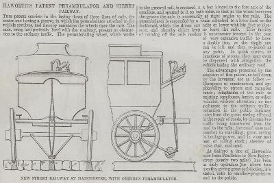 Haworth's Patent Perambulator and Street Railway--Giclee Print
