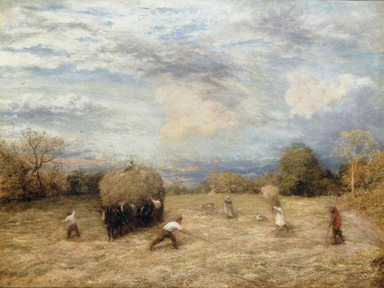 Hay and Haste, 1875-John Linnell-Giclee Print
