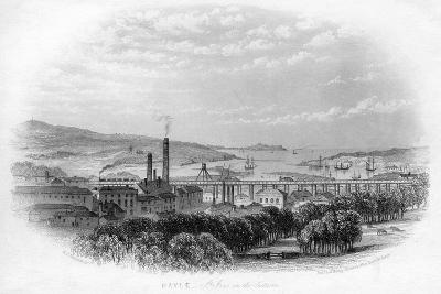 Hayle St Ives in the Distance, C1860-RT Pentreath-Giclee Print
