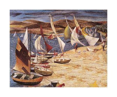 Hayling Island (Regatta 1951)-John R Barker-Premium Giclee Print