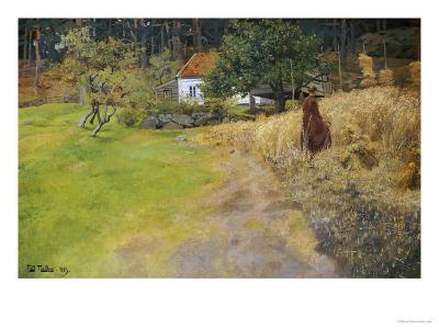 Haymaking, 1889-Fritz Thaulow-Giclee Print