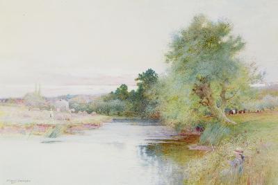 Haymaking Near Marlow-Arthur Claude Strachan-Giclee Print