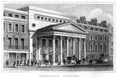 Haymarket Theatre, Westminster, London, 19th Century--Giclee Print