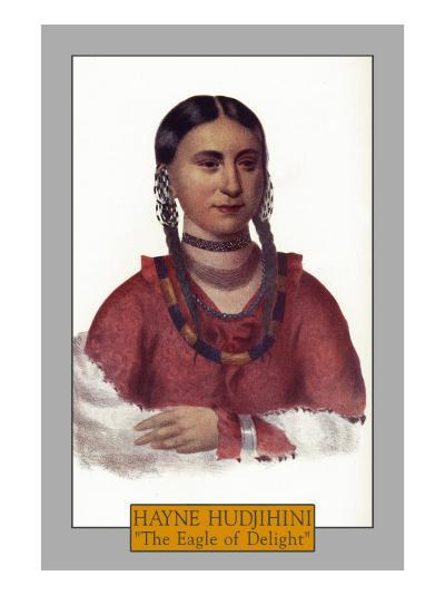 "Hayne Hudjihini - Portrait of the ""Eagle of Delight"", c.1844-Lantern Press-Art Print"