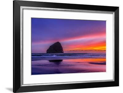 Haystack Rock #2-Steven Maxx-Framed Photographic Print