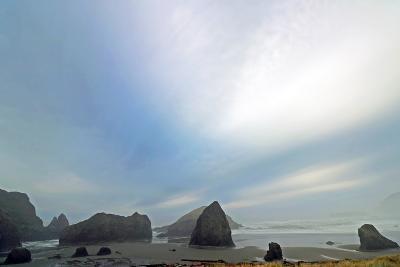 Haystack Rock at Oregon Beach, Usa-Donna O'Meara-Photographic Print