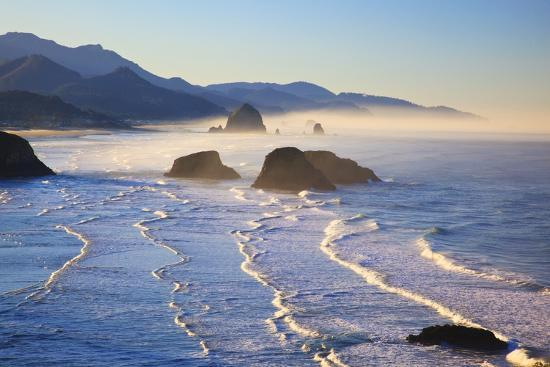 Haystack Rock from Ecola State Park, Oregon Coast-Craig Tuttle-Photographic Print