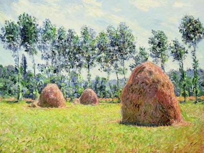 Haystacks at Giverny, 1884-Claude Monet-Giclee Print