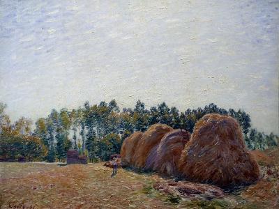 Haystacks at Moret, Morning Light by Alfred Sisley--Photographic Print