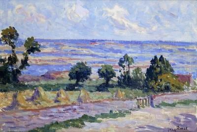 Haystacks by the Sea; Meules Au Bord De La Mer, 1914-Maximilien Luce-Giclee Print