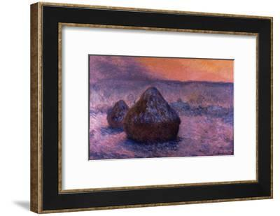 Haystacks in the Setting Sun-Claude Monet-Framed Giclee Print