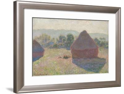 Haystacks, Midday, 1890-Claude Monet-Framed Giclee Print