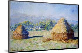 Haystacks, Morning Effect-Claude Monet-Mounted Premium Giclee Print