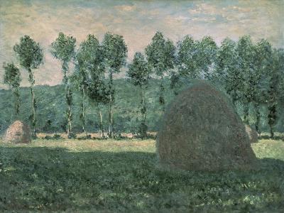 Haystacks Near Giverny, c.1884-89-Claude Monet-Giclee Print