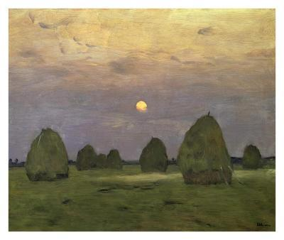 Haystacks Twilight, 1899-Isaac Levitan-Art Print