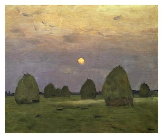 Haystacks Twilight, 1899-Isaac Levitan-Art Print