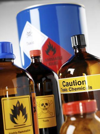 Hazardous Chemicals-Tek Image-Premium Photographic Print