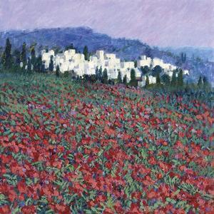 Hilltown in Tuscany by Hazel Barker