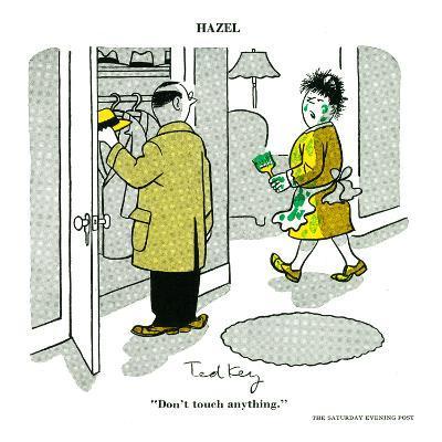 Hazel Cartoon-Ted Key-Art Print