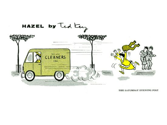 Hazel Cartoon-Ted Key-Art Print