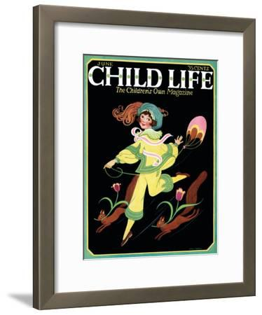 Dancing Girl with Squirrels - Child Life, June 1925