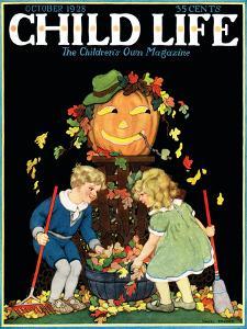 Fall Harvest - Child Life, October 1928 by Hazel Frazee