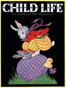 Happy Easter - Child Life, April 1928 by Hazel Frazee
