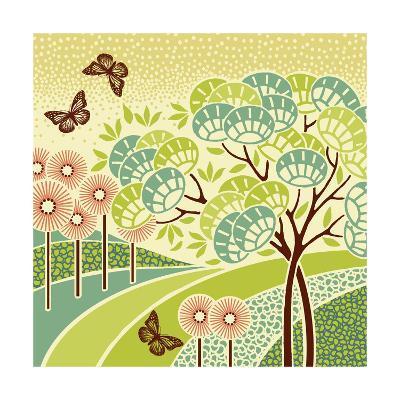 Hazy Day Butterflies--Art Print