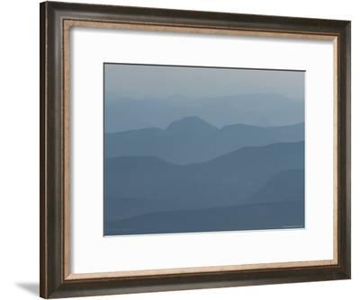 Hazy Mountain Ridges in Provence-Nicole Duplaix-Framed Photographic Print