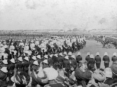The Imperial Cadet Corps Escorting their Majesties into the Durbar Arena, Delhi, India, 1903