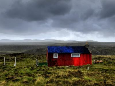 Hdr Image of a Croft, Hebrides, Scotland, UK-Nadia Isakova-Photographic Print