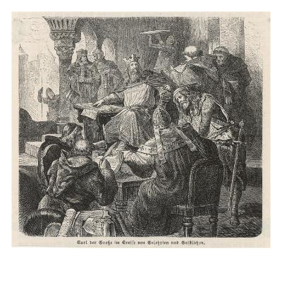 He Confers with Scholars and Clerics : He Is a Great Patron of Learning--Giclee Print