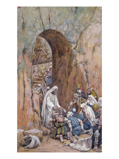 He Did No Miracles Save That He Healed Them-James Tissot-Giclee Print